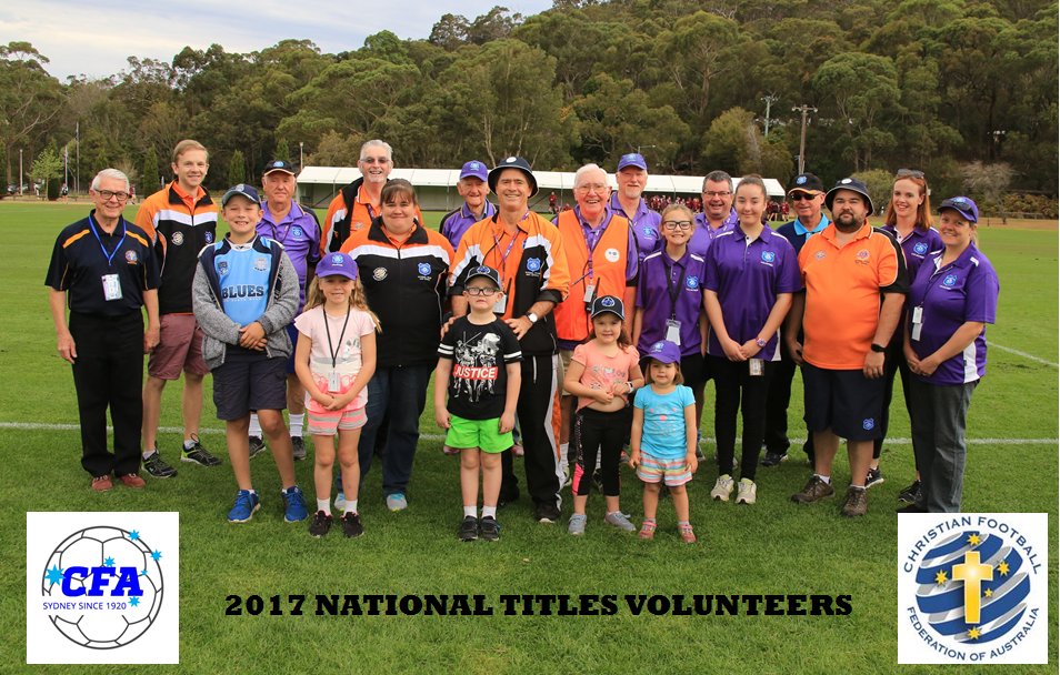 National Titles Volunteers thank you