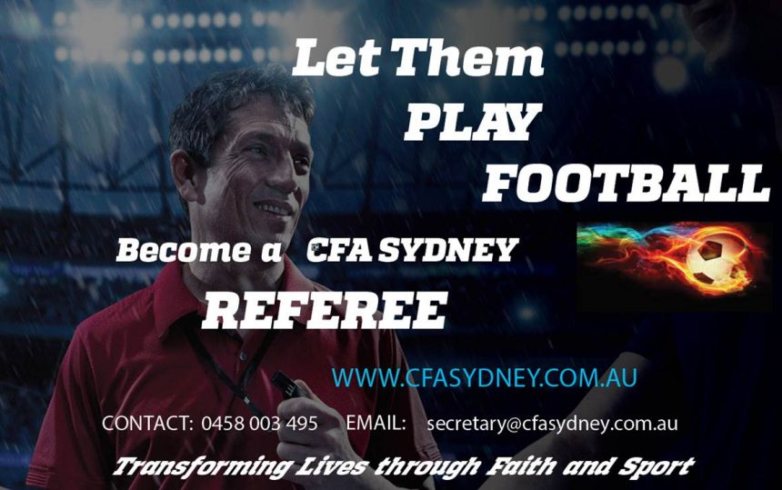 Become a Referee with CFA Sydney