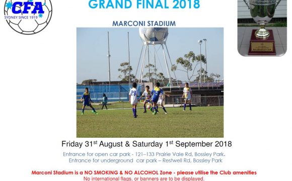Grand Final Day Program 2018