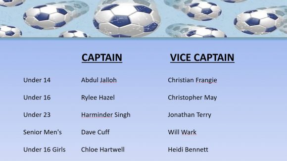 National Titles Captains & Vice Captains 2018