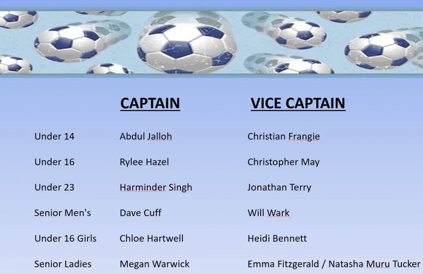 National Titles Captains and Vice Captains