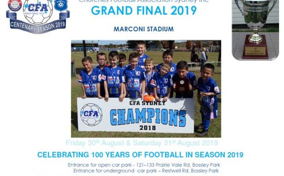 Grand Final Day Program 2019