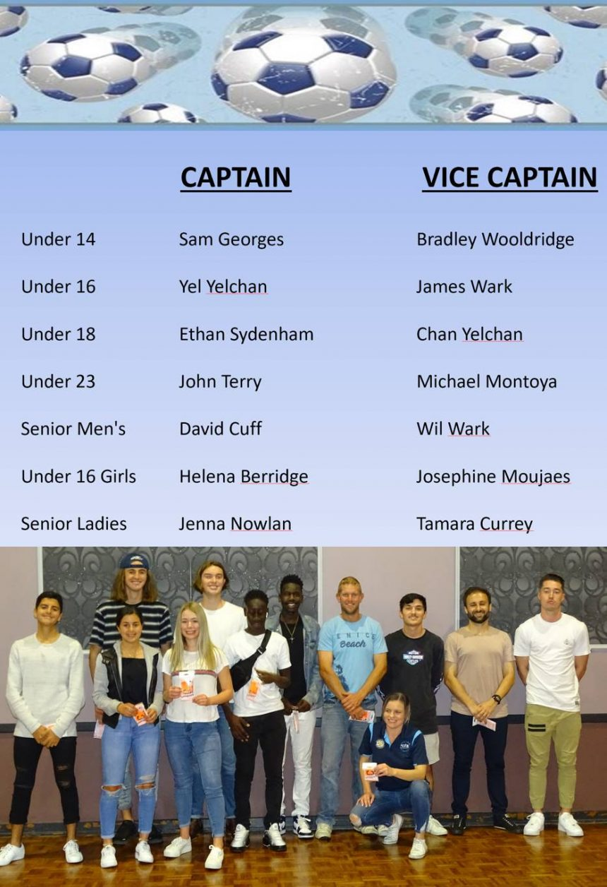 National Titles Captains 2019