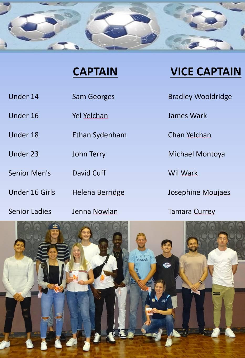 National Titles Captains 2019