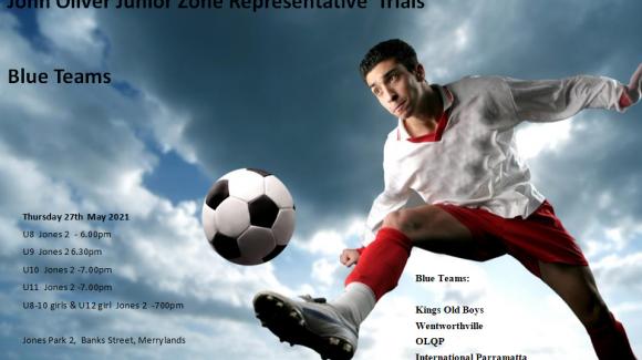 John Oliver Junior Representative Trials – Blue Teams