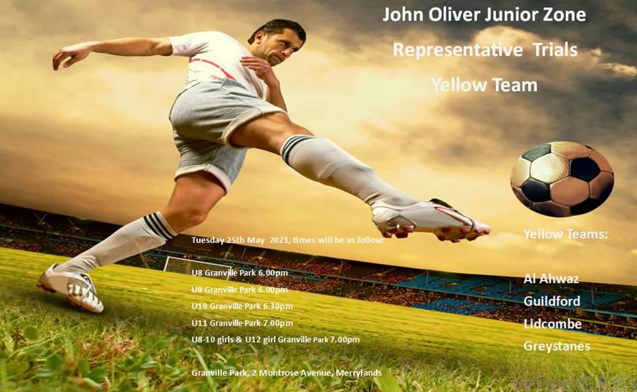 John Oliver Junior Representative Trials – Yellow Teams